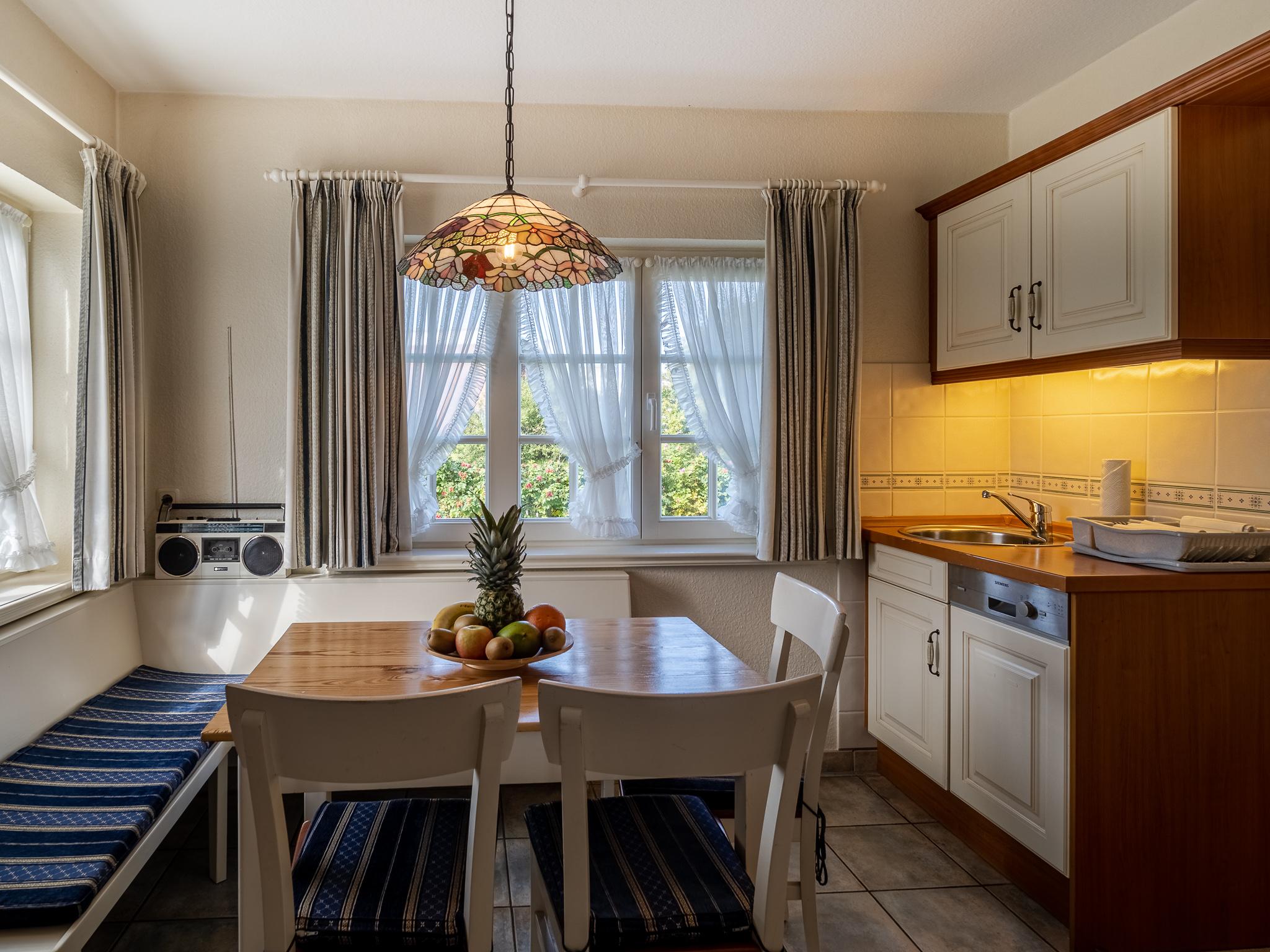 Küche im Reethaus Sylt